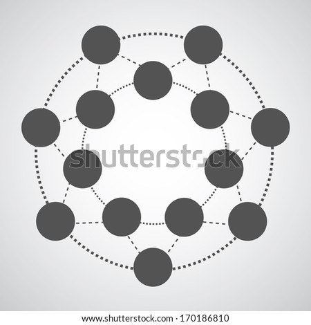 connection symbol with graphics  - stock vector
