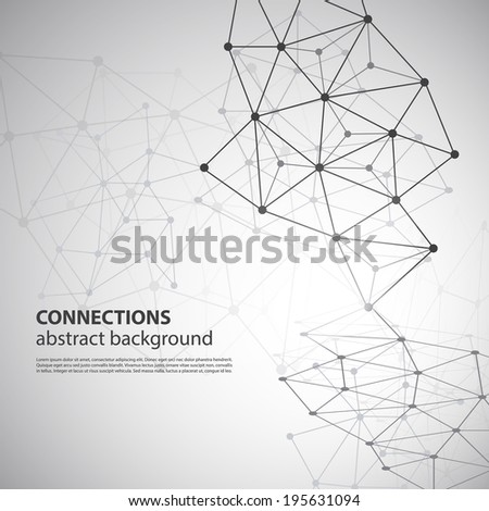 Connections - Molecular, Global, Business Network Design - stock vector