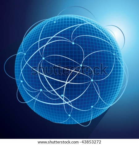 Connections planet for your business artwork - stock vector