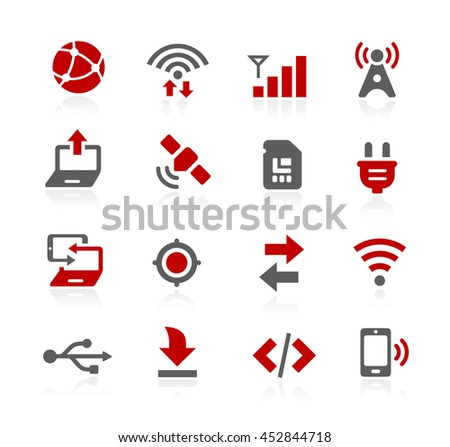 Connectivity Vector Icons - stock vector