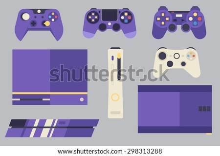 Console Gaming Vector Pack  100% vector Layered EPS 10 Fully resizable Easy to edit - stock vector