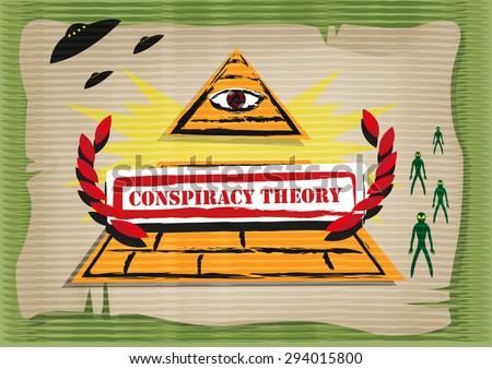 Conspiracy Theory concept. Editable Clip Art. - stock vector