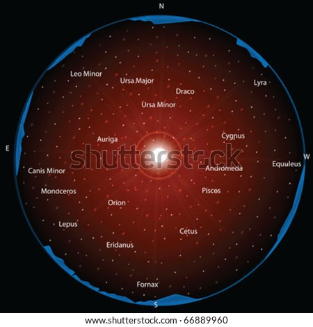 constellation - stock vector