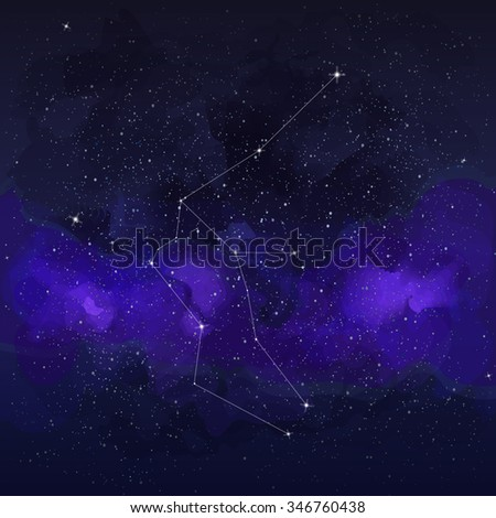 Constellation aquarius. Abstract space cosmic background. Vector illustration - stock vector