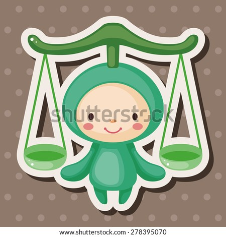 Constellation Libra theme elements - stock vector