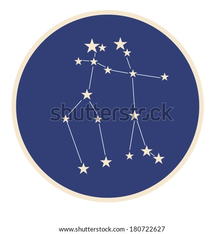 Constellation of zodiac sign Gemini (The Twins)
