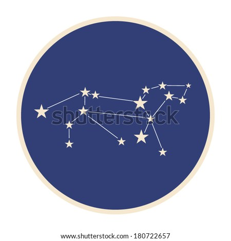 Constellation of zodiac sign Leo (The Lion).