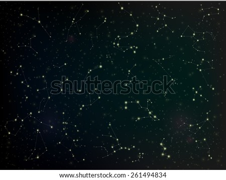Constellations - stock vector