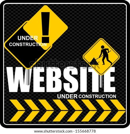 constructing a website - stock vector