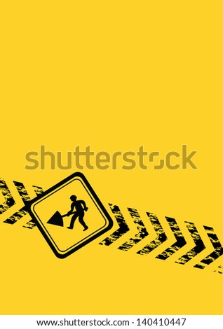 constructing a website black and yellow background