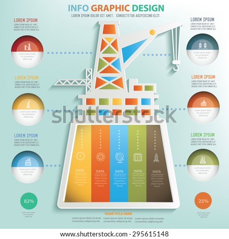 Construction and industry info graphic design, Business concept design. - stock vector