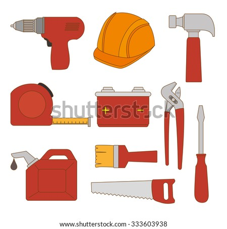 Construction and tools graphic design, vector illustration eps10.