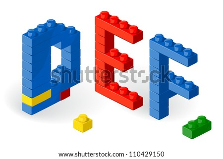 Construction block vector ABC. Letter Z. - stock vector