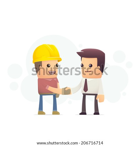 construction contract. conceptual illustration - stock vector