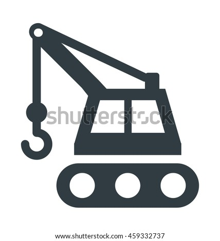 Construction Crane Cool Vector Icon
