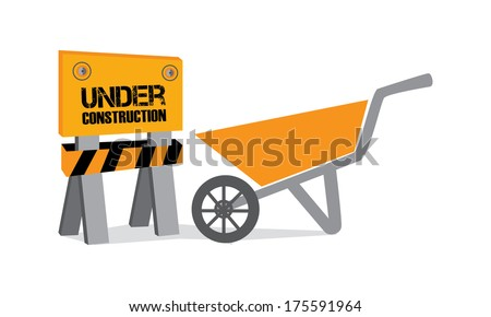 construction design over white background vector illustration  - stock vector