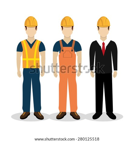 Construction design over white background ,vector illustration. - stock vector