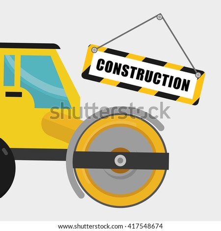 Construction design. work icon. repair concept, vector illustration