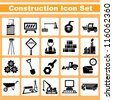 construction, engineering icon set - stock