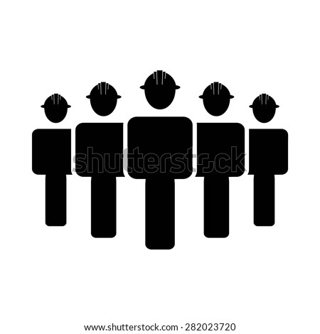 Construction Engineers workers Icon - stock vector