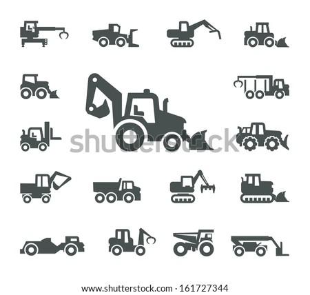 Construction equipment - stock vector