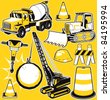 Construction Equipment Collection - stock vector