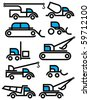 construction equipment signs - stock vector