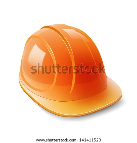 Construction helmet on a white background - stock vector