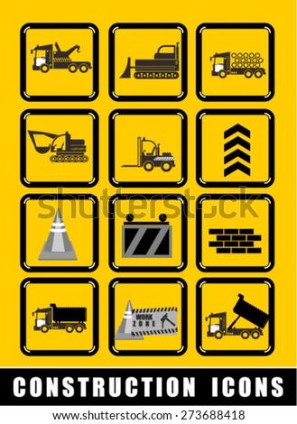 construction, icon - stock vector
