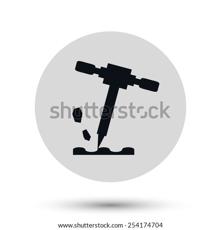 Construction icon vector symbol - stock vector