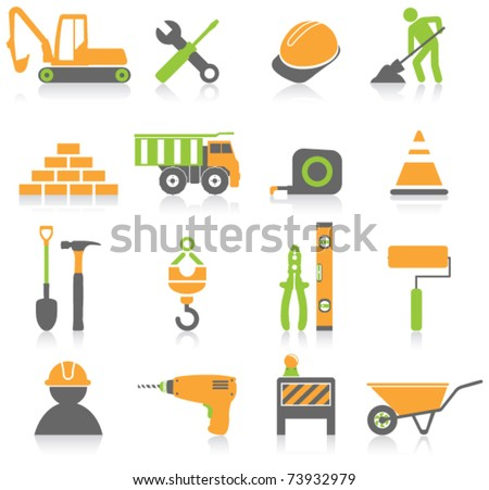 Construction icons. - stock vector