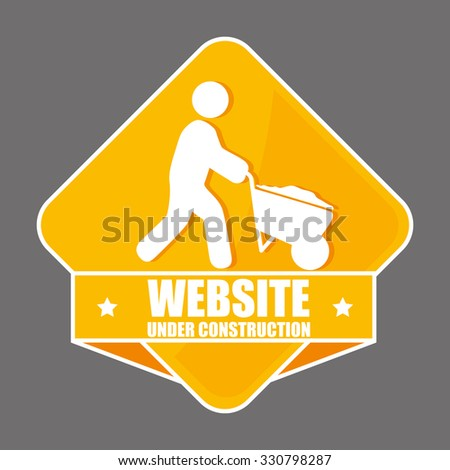 Construction industry and tools graphic design, vector illustration