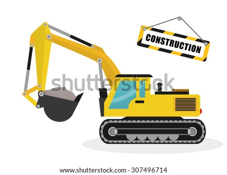Construction machinary design, vector illustration eps 10.