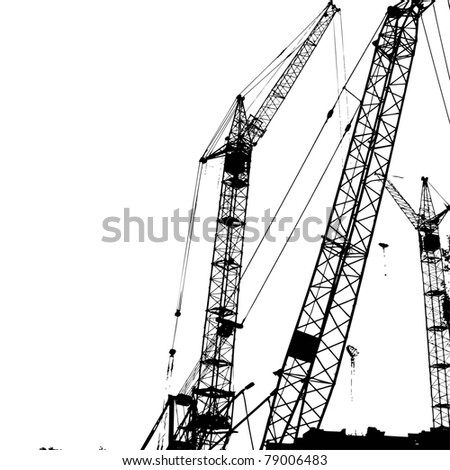 Construction of a building - stock vector