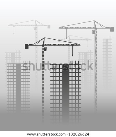 Construction of a buildings - stock vector