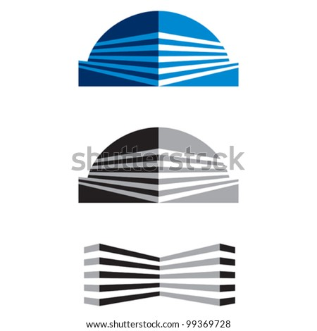 Construction or Real Estate symbol - stock vector