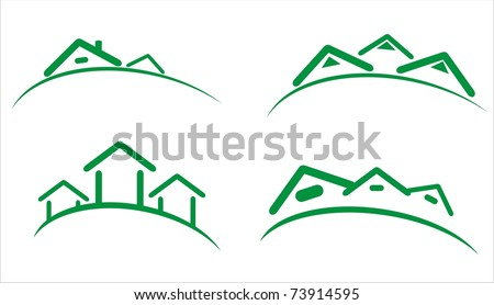 construction real estate icons - stock vector