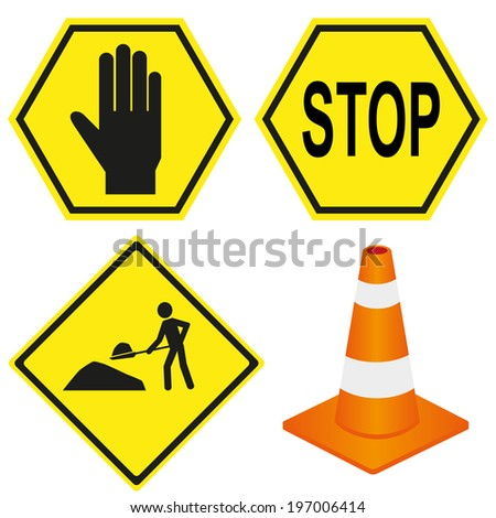 construction sign - stock vector