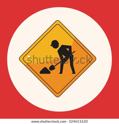 Construction Signs theme elements