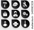 Construction symbol icons,vector - stock vector