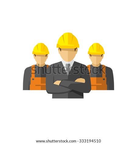 Construction Team Vector  - stock vector