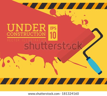 construction tools over yellow background vector illustration