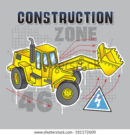 Construction truck graphic