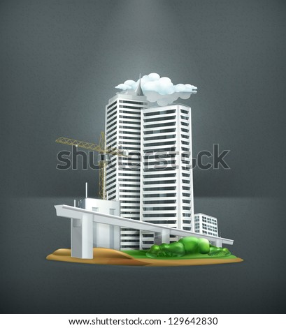 Construction, vector - stock vector