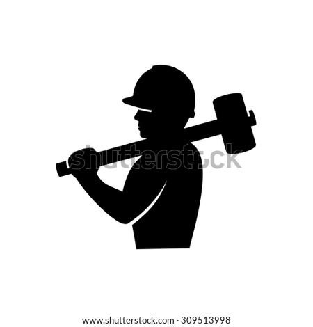 Construction  worker. - stock vector