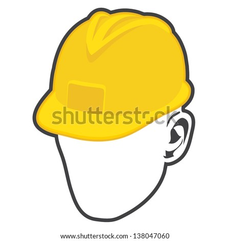 construction worker icon - stock vector