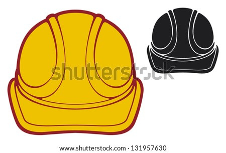construction workers hard hat (protective helmet) - stock vector