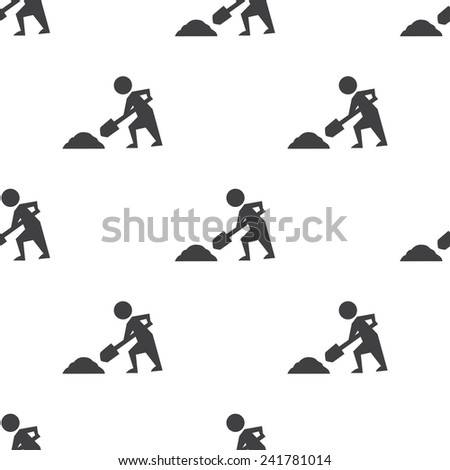 construction works, vector seamless pattern, Editable can be used for web page backgrounds, pattern fills   - stock vector