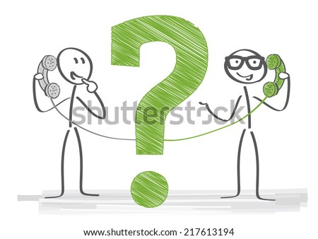 consultant helps to solve a customer problem - stock vector