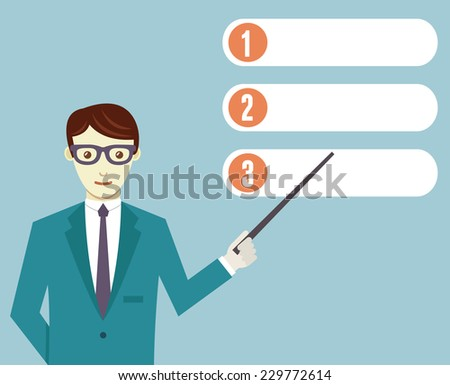 Consultant with copy space for text - vector illustration - stock vector